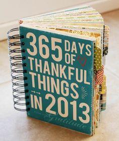 Love this idea!  a grateful smash journal!