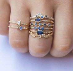 Beautiful Rings for your jewelry collection I Love Jewelry, Gold Jewelry, Jewelry Box, Jewelry Rings, Vintage Jewelry, Jewelry Accessories, Jewelry Design, Saphir Rose, Bling