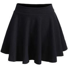 Elastic Waist Pleated Black Skirt (54 BRL) ❤ liked on Polyvore featuring skirts, bottoms, saias, faldas, short skirts, patterned skirts, pleated skirt, short summer skirts and elastic waistband skirt
