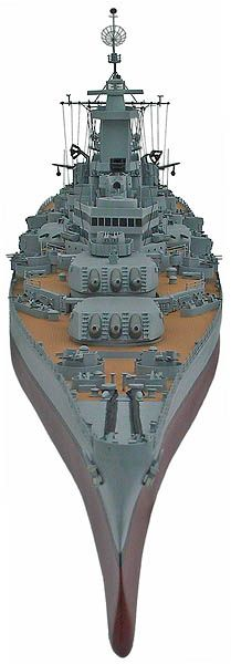 Iowa Class Battleships: BB-63 USS Missouri, circa 1945 - custom wood ship models
