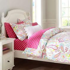 Marrah's bedroom!!   Swirly Paisley Duvet Cover + Sham, Pink #pbteen