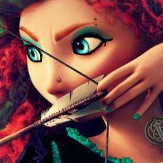 disney, brave, and merida image Disney Punk Edits, Goth Disney, Dark Disney, Disney Love, Disney Magic, Ariel Disney, Emo Disney Princess, Gothic Disney Princesses, Alternative Disney Princesses