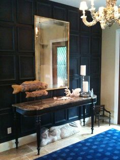 love this accent wall and the molding :)