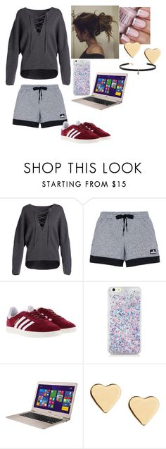 """""""when u wanna be cute at home"""" by crazibunniz on Polyvore featuring Vince, adidas, Lipsy and Carbon & Hyde"""