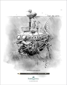 campaign for Faber-Castell's new range of water-soluble graphite pencils, illustrated by Redmer Hoekstra..