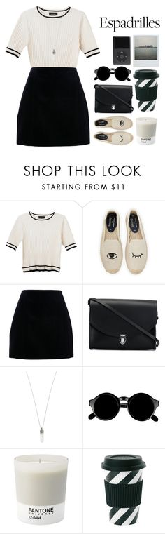 """Let me go"" by shotstyle ❤ liked on Polyvore featuring Monki, Soludos, Carven, The Cambridge Satchel Company, Marc Jacobs, Retrò, Pantone and Miss Étoile"