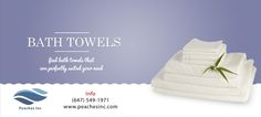 Peaches Inc Provide high quality Bath towels to customer .. For More Info Call: 647-549-1971