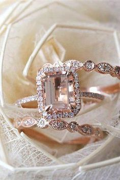 Morganite Engagement Rings Were Are Obsessed With ❤ See more: www.weddingforwa… Morganite Engagement Rings Were Are Obsessed With ❤ See more: www. Rose Gold Engagement, Beautiful Engagement Rings, Engagement Ring Settings, Vintage Engagement Rings, Wedding Engagement, Morganite Engagement Rings, Expensive Engagement Rings, Country Engagement, Engagement Pictures