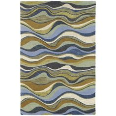 Hand-tufted Manhattan Blue Waves Rug (5' x 7'6) - Overstock™ Shopping - Great Deals on 5x8 - 6x9 Rugs