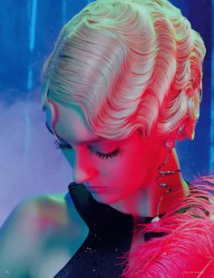 """Dreaming of Dior: """"Hollywood Hair"""" by Miles Aldridge for Vogue Germany October 2015"""