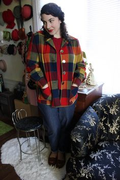 Pendleton from MaryAnnNote. Post Baby Fashion, Fashion Pics, Fall Fashion, Fashion Ideas, Vintage Inspired Outfits, Cool Style, My Style, Plaid, Tartan