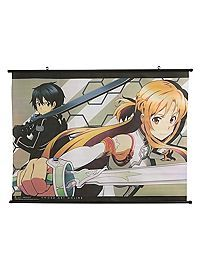 HOTTOPIC.COM - Sword Art Online Asuna & Kirito Wall Scroll
