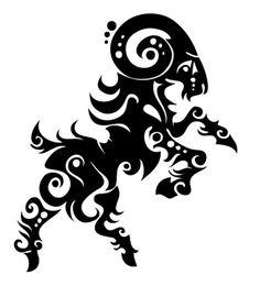 Aries Tattoo Design: Fire Ram Animal Zodiac Stencil | Just Free Image Download