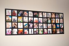 Wall photo collage on a budget