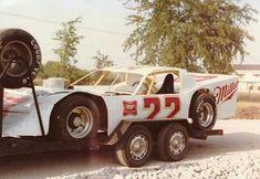 Car Trailer, Trailers, Crate Motors, Old Race Cars, Dirt Track Racing, Vintage Race Car, Transporter, Back Home, Nascar