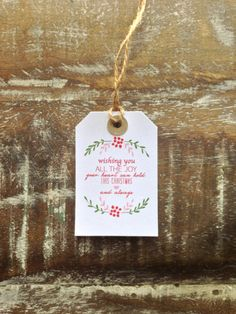 Christmas Gift Tag: Wishing You Joy