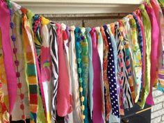 Boho Bold Prop Banner Fabric Garland Ribbon Backdrop - Curtain, Valance - Whimsical Fun on Etsy, $57.95