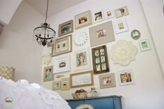 beautiful & eclectic gallery wall
