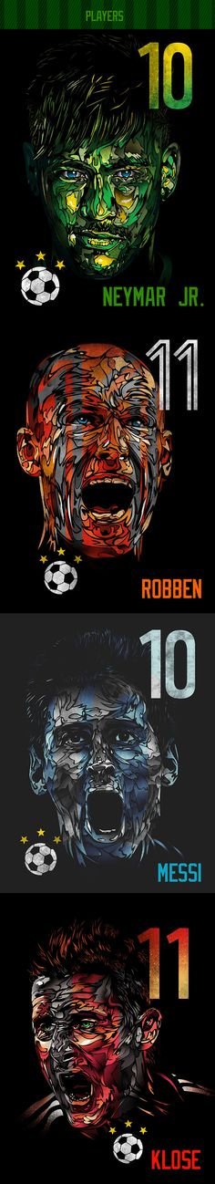 World Cup 2014 Illustrations by Dan Elijah Fajardo, via Behance