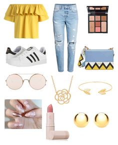 """""""Summer Vibes"""" by mari4 on Polyvore featuring Chicwish, H&M, adidas, Prada, Sunday Somewhere, Lord & Taylor, IBB, Lipstick Queen and Charlotte Tilbury"""
