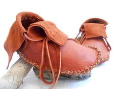 Short Moccasins Traditional Native American by FaeMoonWolfDesigns