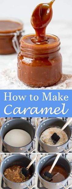 Have the best time of your life with these tasty Caramel Recipes! These homemade caramel recipes are super easy to make and taste amazing! Homemade Caramel Sauce, Caramel Recipes, Candy Recipes, Baking Recipes, Sweet Recipes, Caramel Topping Recipe, Carmel Sauce Recipe, Caramel Sauce Easy, Salted Caramel Sauce