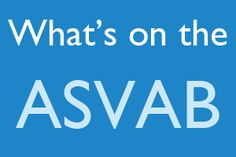 What's on the ASVAB? Studying for the ASVAB? The ASVAB exam consists of two different ways to take the exam; by computer and by pencil and paper. This infographic gives you an idea as to what you can expect on the ASVAB! http://www.mometrix.com/blog/whats-on-the-asvab/