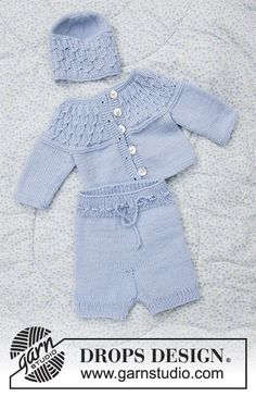 Stroll in the Park / DROPS Baby - Kostenlose Strickanleitungen von DROPS Design Ladies, thanks to knitting, you can sign different designs. The ideal way to gain a different accessory to your clothing or home decoration is to design by using the k Baby Knitting Patterns, Baby Cardigan Knitting Pattern Free, Knitted Baby Cardigan, Knitting Designs, Baby Patterns, Free Knitting, Drops Design, Drops Baby Alpaca Silk, Jacket Pattern