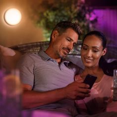 Philips Hue White and Color Ambiance LED-Wandleuchte Daylo schwarz Philips Hue, Couple Photos, Couples, Color, Courtyard Entry, Lawn And Garden, Diffuser, Lighting, Black