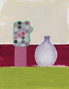 Drawing for Violet Bottle on Three Colors2014 by Meg Cranston, P, RP, G/GY