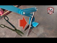 Shear from blacksmith's scissors - video - HomemadeTools.net Metal Working Tools, Shearing, Blacksmithing, Scissors, Youtube, Sheet Metal, Armors, Blacksmith Shop, Bicycle Kick