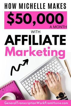 Learn how to make money online with affiliate marketing and make money blogging from a successful affiliate who makes $50,000+ a month. And she does it while traveling full time. If you're not making enough money with affiliate marketing, you can learn a few things from Michelle. She can help you become successful with affiliate marketing. Make Money On Amazon, Way To Make Money, Make Money Online, How To Make, Best Online Business Ideas, Best Online Jobs, Business Tips, Legitimate Work From Home, Work From Home Jobs