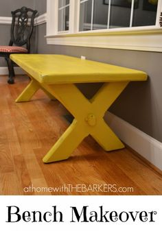 Painted Bench Makeover #31days #paintprojects #homedecor