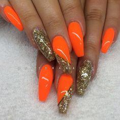 Efter, påfyll med Neon Orange och Drunken Mermaid (egenblandat) ✨