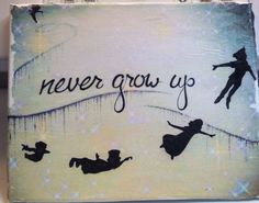 10x 8 Never Grow Up Canvas by MMGraphics619 on Etsy, $18.50