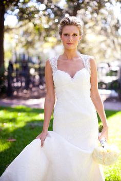 Love wedding dresses with lace!