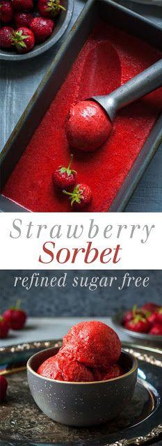 Stráwberry Sorbet   Healthy Food Recipes