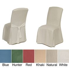 Cotton Duck Parsons Chair Slipcover Pair | Overstock.com Shopping - Big Discounts on Chair Slipcovers