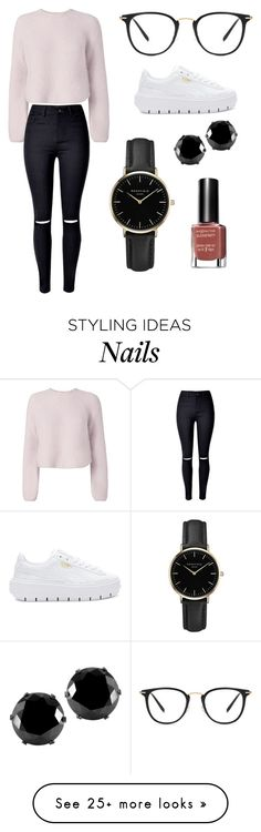 """Sans titre #10023"" by yldr-merve on Polyvore featuring Intermix, WithChic, Puma, ROSEFIELD, West Coast Jewelry and Max Factor"