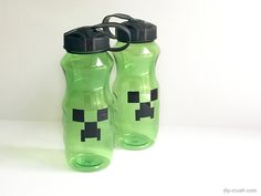 Minecraft Plastic Water Bottle Project