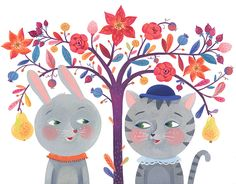The two of us greeting card illustration and greetingcards made by Livia Coloji Disney Characters, Fictional Characters, Two By Two, Greeting Cards, Kids Rugs, Illustration, Artwork, Artist, Projects