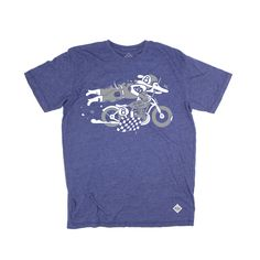 RIDE&SONS Daredevil Tee-shirt Blue Heather Artist: Steven Burke
