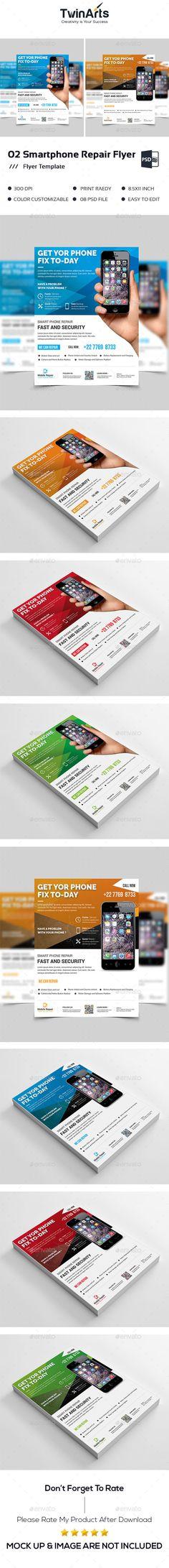 Smartphone Repair Flyer Template PSD