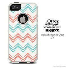 The Abstract Tan Chevron Pattern Skin For The iPhone 4-4s or 5-5s Otterbox Commuter Case on Etsy, $9.99