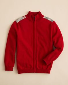 Burberry Boys' Aldo Zip Front Sweater - Sizes 4-14