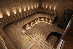 , Sauna Design, Saunas, Architecture Design, Wall Lights, Backyard, Interior Design, Lighting, House, Wellness