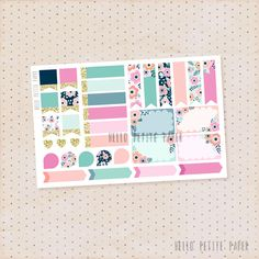 Functional sampler stickers - Bloom collection / 34 matte functional stickers for planners by HelloPetitePaper on Etsy https://www.etsy.com/listing/261595243/functional-sampler-stickers-bloom