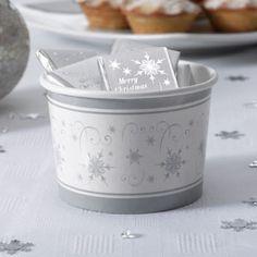 Shimmering Snowflake jäätelökulhot 8kpl