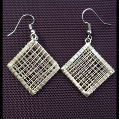 Markdown Mexican Sterling Silver earrings Look at these! Diamond shape Taxco (Mexican) silver earrings are amazing! They have French hooks, shiny, and lightweight. Taxco silver Jewelry Earrings