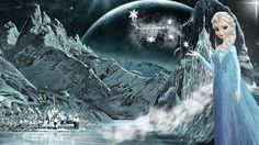Frozen - (Elsa Snow Night by CoGraphiC on DeviantArt Arendelle Frozen, Elsa Frozen, Twisted Disney Princesses, Castle Doors, Snow Night, Castle In The Sky, Iron Throne, Snow Queen, Colorful Drawings